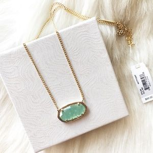 Kendra Scott Dylan Light Green Pendant Necklace